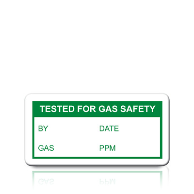 Ultra Strong Adhesive /& Rip Proof Tested For Gas Safety Labels 38mm x 20mm