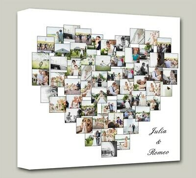 Your Photo  Heart Collage Canvas - Personal photo canvas Print