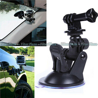 """Car Suction Cup +1/4"""" Tripod Mount Adapter+Screw for GoPro HD Hero 2 3+ 4 Camera"""