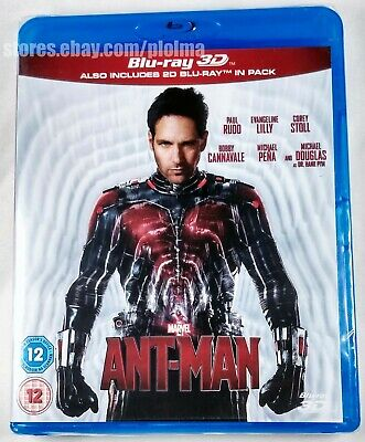 ANT-MAN Brand New 3D BLU-RAY (and 2D) 2-Disc Set Marvel Cinematic Universe MCU