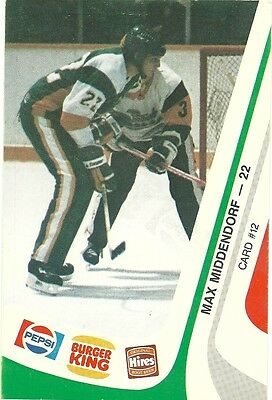 """3.5""""X5.25"""" Sudbury Wolves Tean Issued Cards from 1985 of Max Middendorf"""