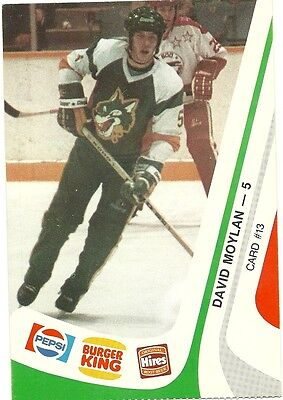 """3.5""""X5.25"""" Sudbury Wolves Tean Issued Cards from 1985 of Dave Moylan"""