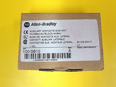 AB Allen-Bradley Cat. No. 100-SB10 Ser. A, Auxiliary Contacts. Lot of 2. NEW!