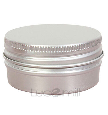 10 x 15mL ALUMINIUM TINS JAR POT CONTAINERS with Lined Screw Caps - TOP QUALITY