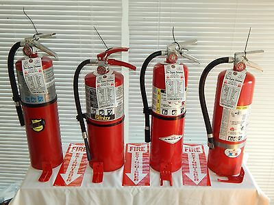 Fire Extinguishers - 10Lb ABC Dry Chemical  - Lot of 4 [SCRATCH&DENT]