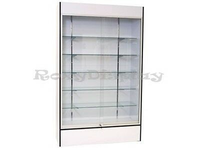 Wall White Display Show Case Retail Store Fixture with Lights Knocked down #WC4W