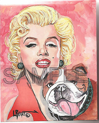 MARILYN MONROE BULLDOG #374 L ROYER 8X10 NUMBERED SIGNED CERTIFICATE BIOGRAPHY