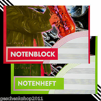 Notenheft A5 Musikheft A4 Notenblock A4 Musik Noten Schulheft Lin.14 Notenlinien