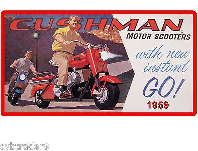 Cushman Eagle Motor Scooters 1959  Refrigerator / Tool Box Magnet Man Cave