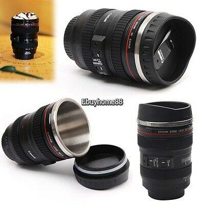New 1:1 EF 24-105mm F/4.0L Camera Lens thermos Cup Stainless Steel Coffee Mug EH
