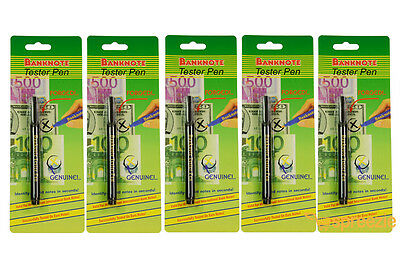 5 Pack Counterfeit Money Detection Pen Marker Fake Dollar Bills Currency Checker