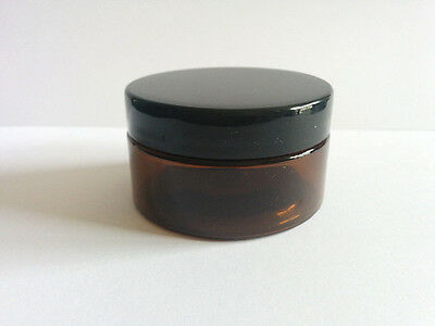 5 x 50g Amber Plastic Lip Balm Small Sample Cosmetic Jars Container + Cap