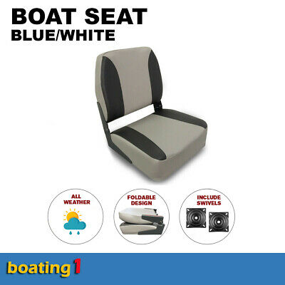 Deluxe Boat Seat Grey/Charcoal With Swivel