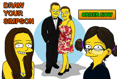 I will draw You as a fun SIMPSONS cartoon character