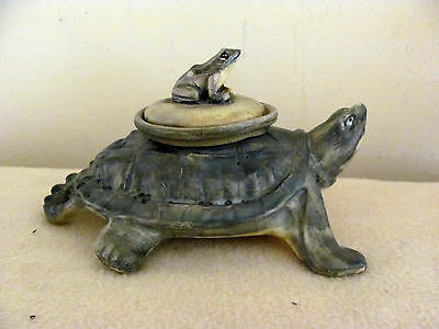 Weller Turtle and Frog Inkwell