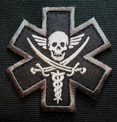 Pirate Medic Tactical Emt Ems Military Usa Army Morale Badge Swat Velcro Patch