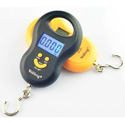 Hanging Luggage Pocket Scale 50Kg / 5g Weight Kg Lb OZ Digital BackLight WFAU