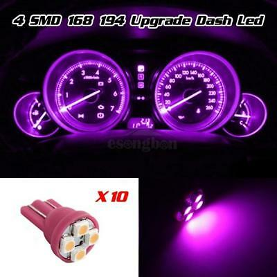 10x Pink purple 12V LED 194 T10 Wedge Instrument Panel Light Bulbs For Ford Dash