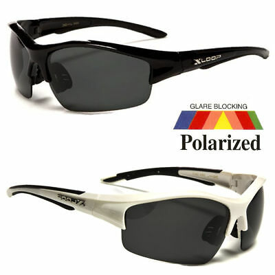 Polarized Mens Wrap Around Fashion Sunglasses Fishing Golf Running Sport Glasses