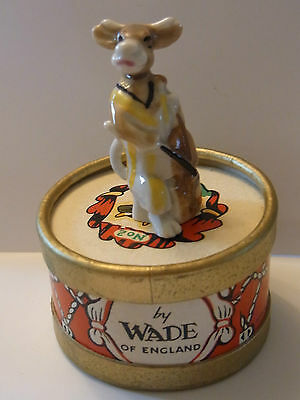 WADE-WHIMSIE CLARA THE COW WITH ORIGINAL DRUM BOX