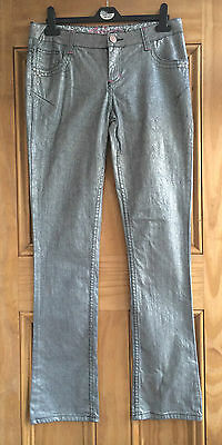 Tammy New Girls / Ladies Silver Straight Leg Trousers Age 13 - 16 Years Bnwot