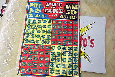 Put & Take Game, Push Out Card, vintage gambling