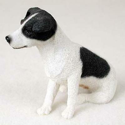 Jack Russell Terrier Black & White w/Smooth Coat Standard Figurine