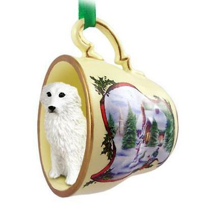 HTCD75 Great Pyrenees Tea Cup Snowman Holiday Ornament
