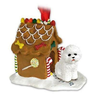 GBHD29 CON Bichon Frise Ginger Bread House Ornament