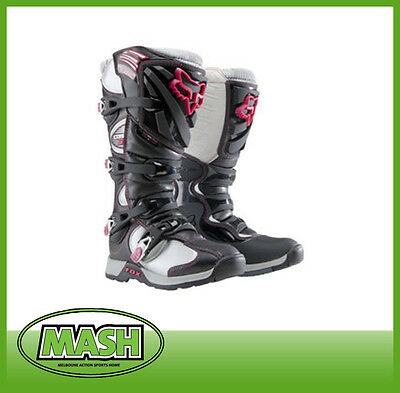 Fox Comp 5 Ladies Mx Boots - Black/pink All Sizes