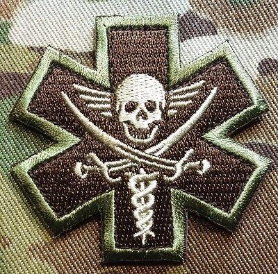 Pirate Medic Tactical Emt Ems Usa Army Morale Multicam Hook Patch