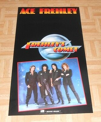 Ace Frehley Frehley's Comet Original 1987 Poster Kiss Excellent 17 x 31