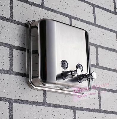 Stainless Steel Wall Mount Shower Gel Body Lotion Shampoo Liquid Soap Dispenser
