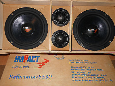 KIT IMPACT REFERENCE 6530 NEODIMIO MIDWOOFER 16,5cm+TWEETER 30mm+CROSSOVER  12db