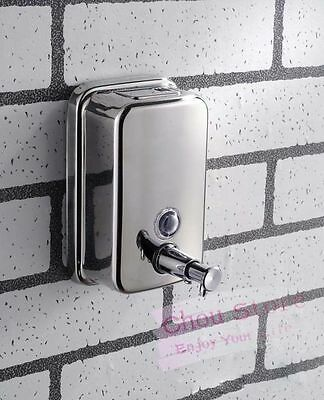 Stainless Steel Bathroom Shower Gel Body Lotion Shampoo Liquid Soap Dispenser