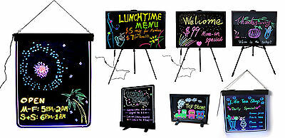 LED Neon Fluorescent Flashing Board Writing Board Menu Sign Message Dry Erase
