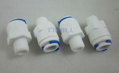 """4pcs 1/4"""" Thread Male to 3/8"""" Push Fit Tube Quick Connect f RO  Reverse Osmosis"""