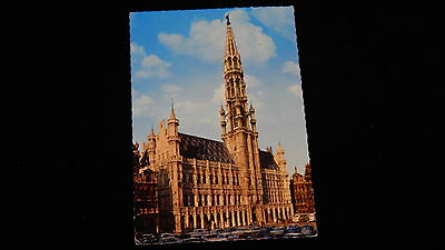 Vintage Postcard, BRUSSELS, BELGIUM, Grand Square And Town Hall, Catherdral, BE