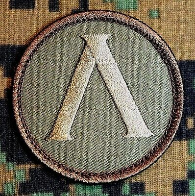 Lambda Spartan Shield Tactical Military Usa Army Morale Forest Hook Patch