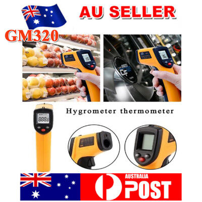 Portable Digital Infrared Thermometer Temperature Laser Gun Meter-50~380° NEW
