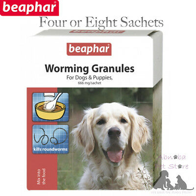 Beaphar Worming Granules Dog & Puppies Kill Roundworms Active Ingr. Fenbendazole