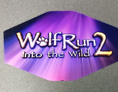 IGT Slot Machine Polygon Topper Insert WOLF RUN 2 INTO THE WILD