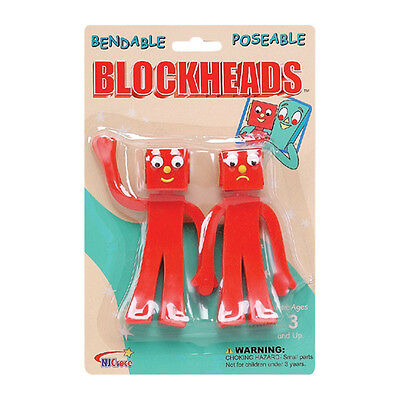 NEW!! Blockheads Bendable Figure Set Gumby and Friends