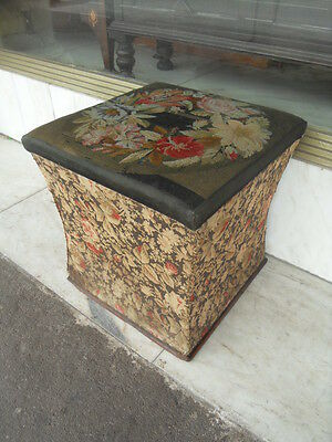 Georgian / Victorian Upholstered Commode / Victorian Seat Box
