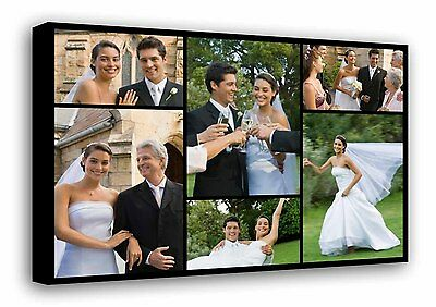 Personalised Photo Collage Printed - framed canvas ready to hang - 6 photos f102