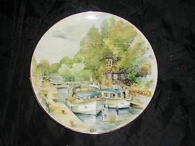 Lindrick Pottery, Collectable China Plate, Summer on the Thames,