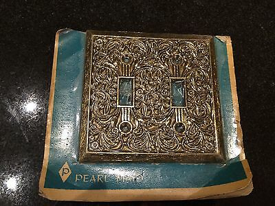 Vintage Brass Finish Switch Plate New
