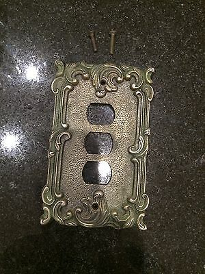Antique Bronze, Very Heavy Triple Switch Cover