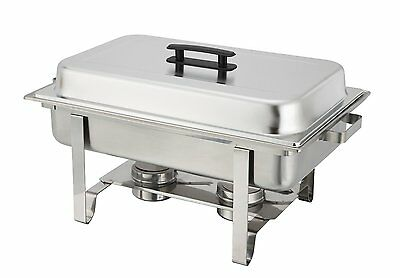 Winware 8 Qt Stainless Chafer Full Size Chafer Food Buffet Tray Pan Warmer Serve