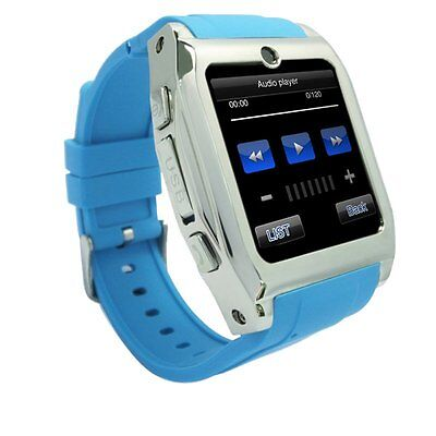 NEW MTK6250 Smart Wrist Watch GSM SIM Card Cell Phone Touch Screen Unlocked Blue
